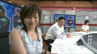 【大橋未歩】台風中継で自慢のおっ☆いが透けちゃった映像♪